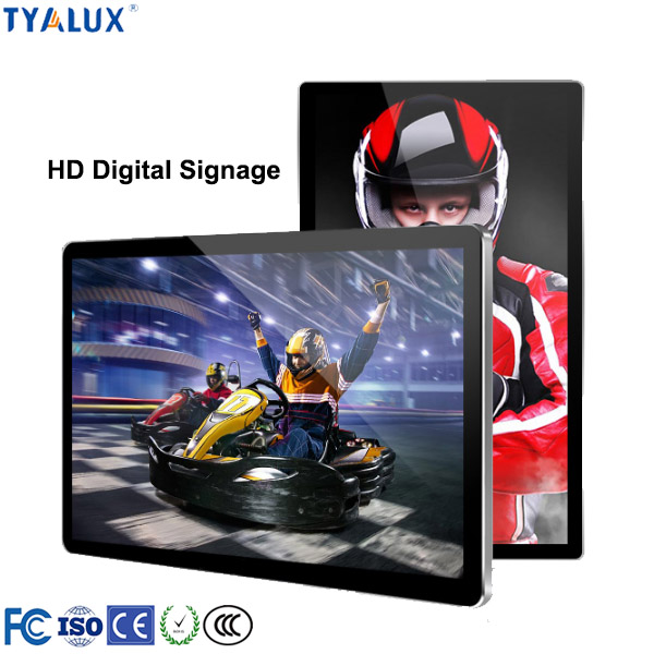 43inch wall mount digital signage player network for restaurant <strong>advertising</strong>