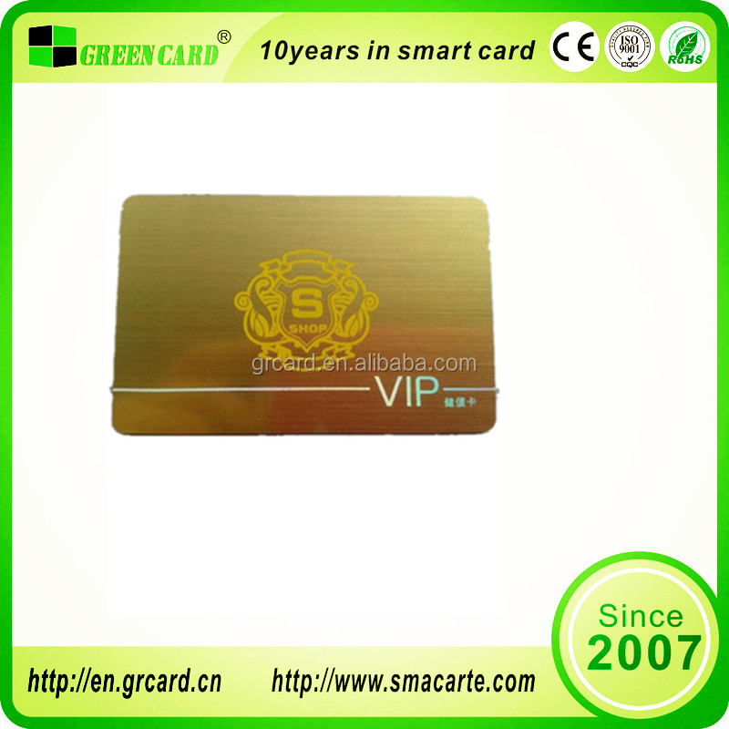 Shenzhen factory CR80 Credit cards size VIP Membership Card