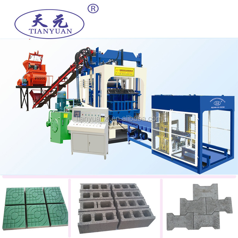 AutAutomatic type QTY6-15A Medium sized block machine/hollow block concrete materials