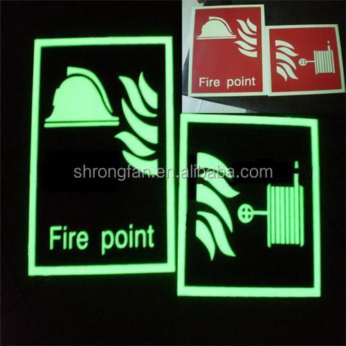 Non-electrical EXIT signs glow in the dark exit signs