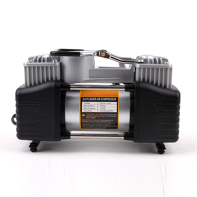Heavy Duty Double Cylinder Air Pump 12v Metal Air Compressor