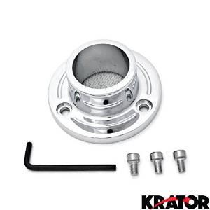 Krator Dirt Bike Exhaust Tip Muffler Power Outlet Chrome For 2005-2007 Yamaha TT-R230