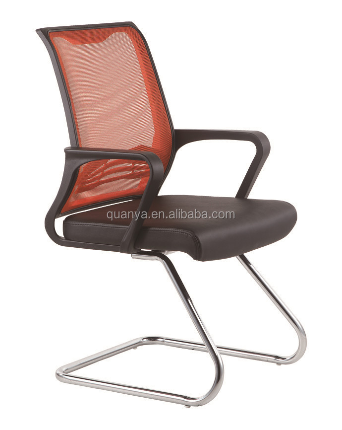 mesh back office bow chair with armerst
