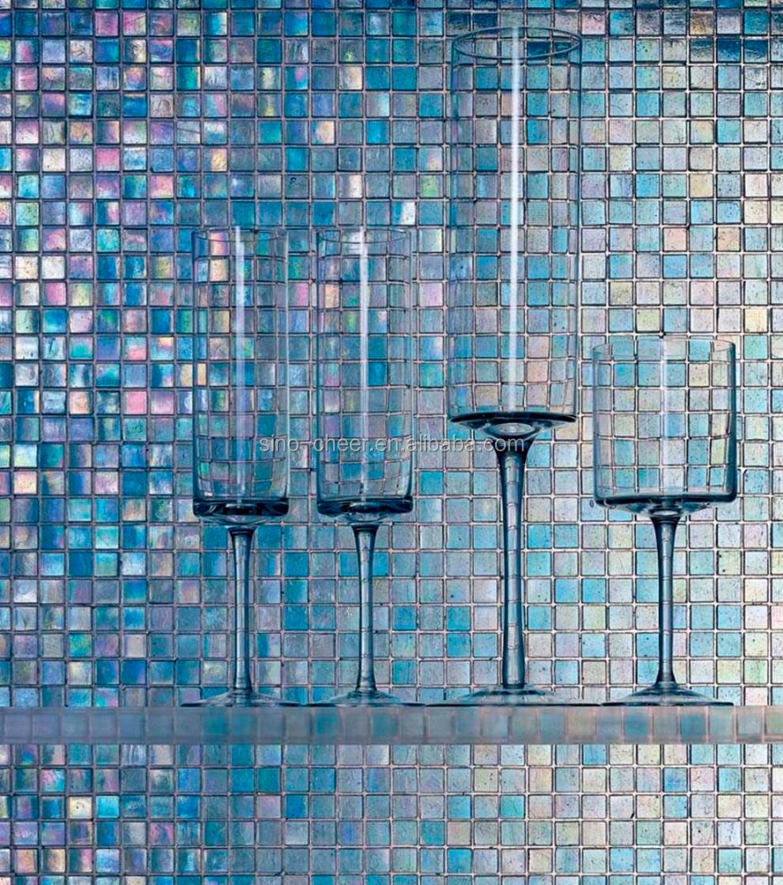 Cheap Price Dark Blue Color Mosaic 4mm Glass Mosaic For Swimming ...