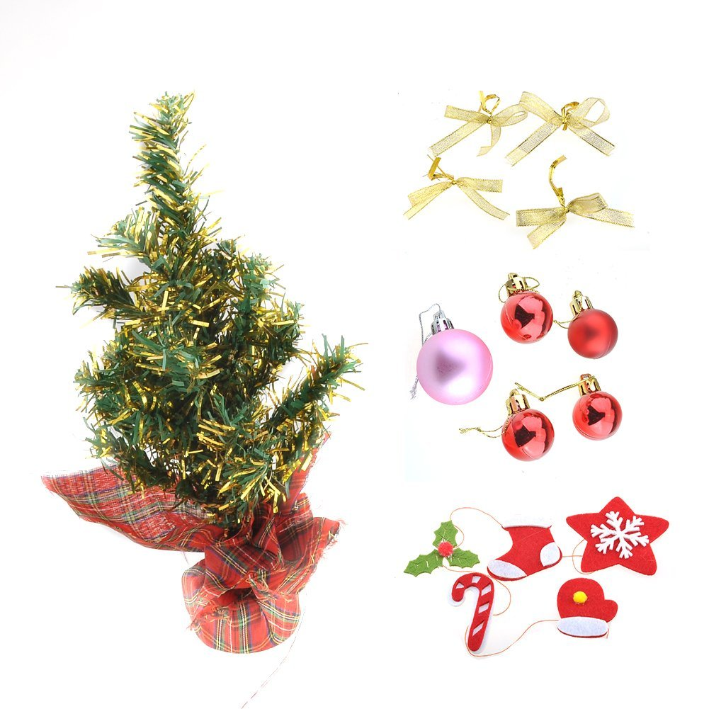 get quotations mini tabletop christmas pine tree assorted artificial green pine christmas trees in cloth bag xmas decoration - Live Mini Christmas Tree