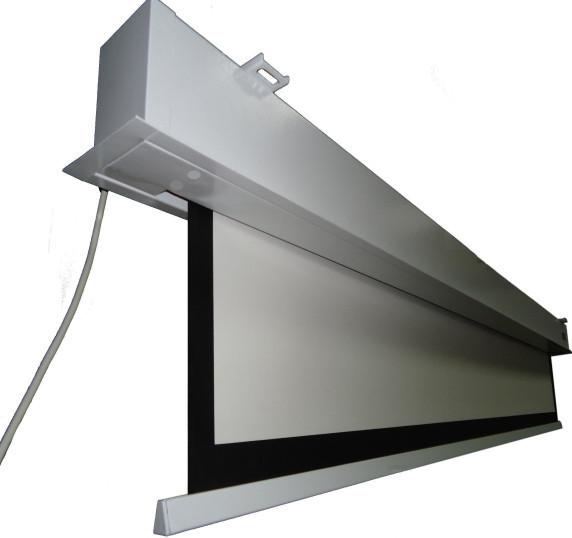 120 16 9 Matte White Motorized Hidden In Ceiling Projector Screen