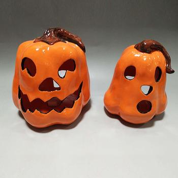 Kusama Ceramic Scary Pumpkin Decorations Diy At Lowes Uk Luminary