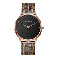 NEW!Private label watches men, High-end custom Simple stainless steel mesh band wristwatch