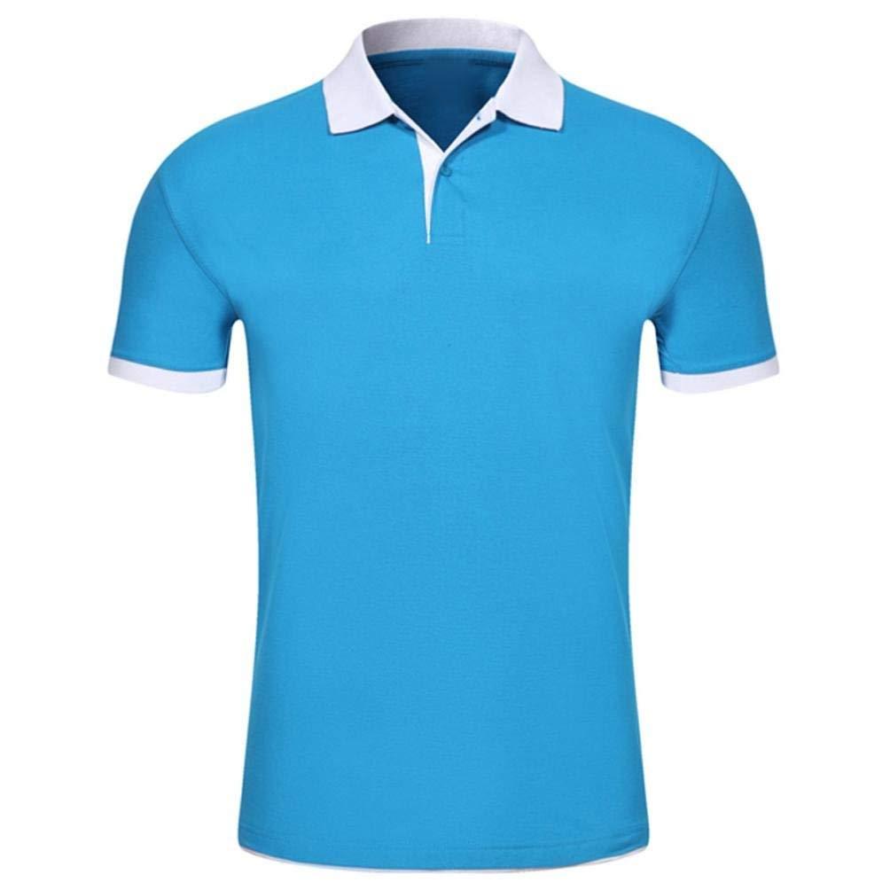 Mens Casual Slim Fit Polo Shirt, Kstare Men's Comfy Solid Short Sleeve Shirts Tops