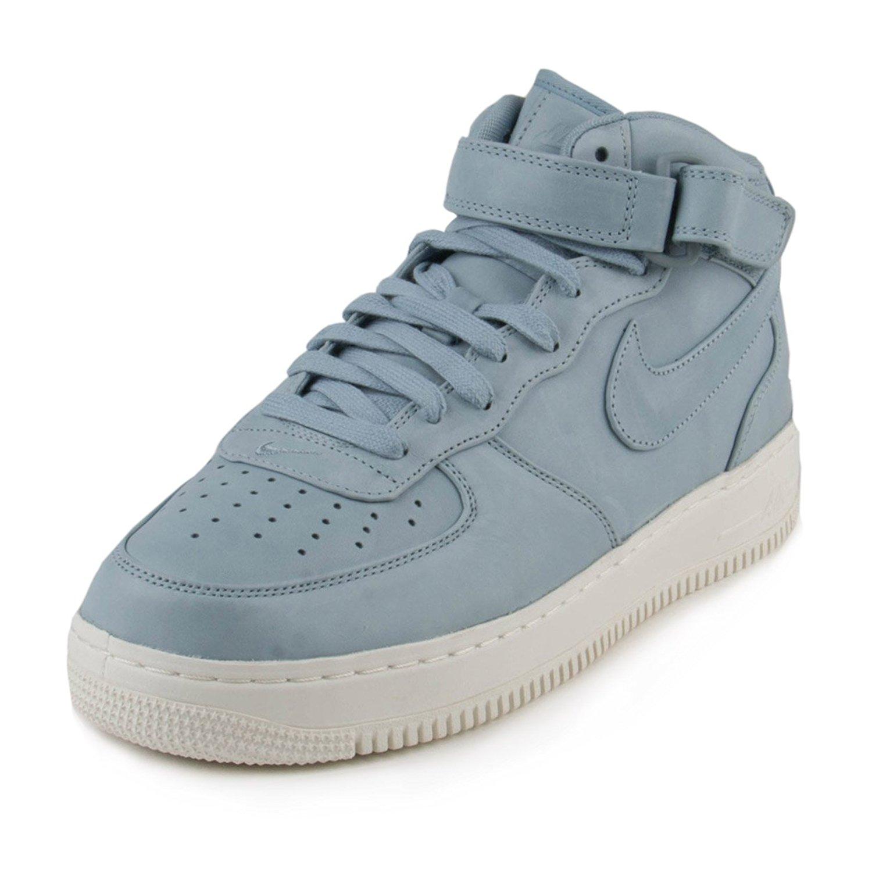 pretty nice b51b7 add3f Nike Mens Lab Air Force 1 Mid Blue Grey Leather