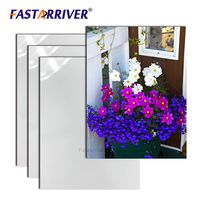 Fastarriver glossy white HD blanks sublimation aluminium for aluminum photo panel sheet