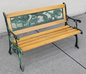 Garden Bench Cover 2 Seater Metal Bench Kids Park Bench