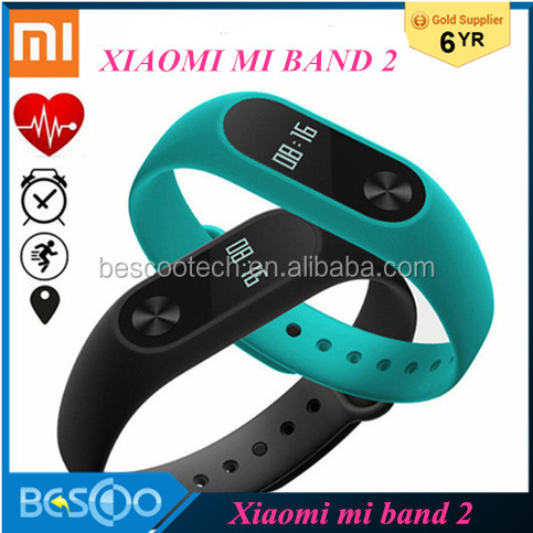 Stock IP67 Xiaomi Band 2 Smart Bracelet Heart Rate Pulse Xiaomi Miband 2 Wristbands xiaomi mi band 2 With OLED Display mi band 2