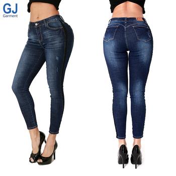 bad54d955 USA Pantalones Femeninos Cropped Tobillero Sexy Lady Narrow New Model Butt  Lifting Women Fashion Strip Tight