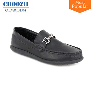 Hot Black Genuine Leather Flat Sole Point Toe Men Casual Loafer Shoes