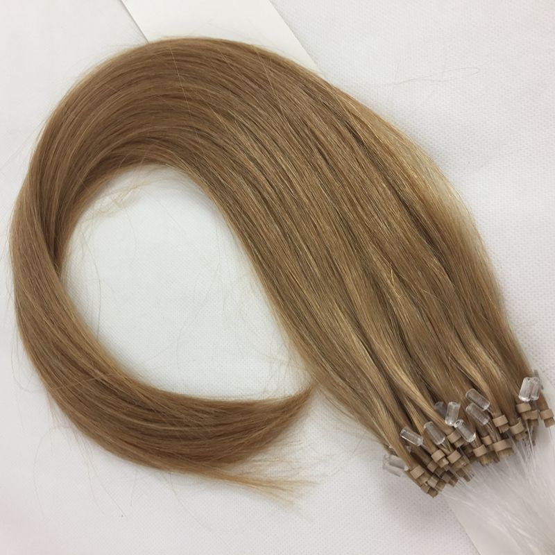Double Drawn 1g 2g stranded 100% remy human hair brazilian easy loops Ring-X micro ring hair