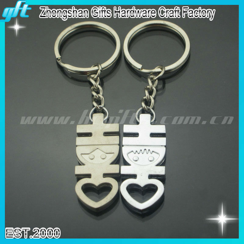 2014 Promotion wedding key rings for lovers, key chains for lovers,wedding keyholder for love