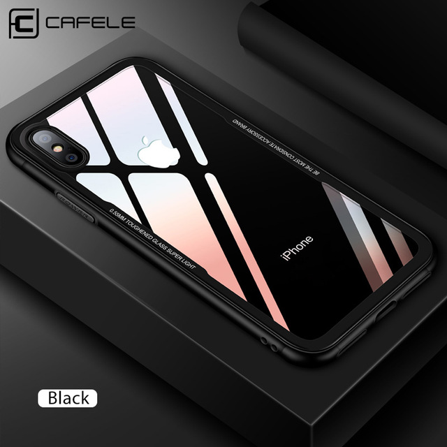 CAFELE best selling blank soft tpu tempered glass cell phone cover phone case for iphone x/xs фото