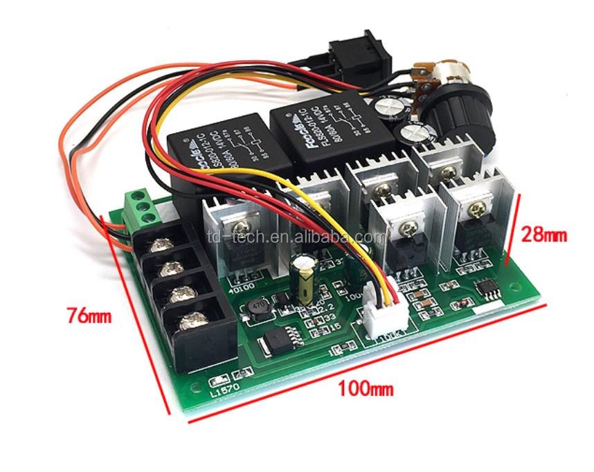 Taidacent Reverse Switch Linear Potentiometer 12v 24v 36v ...