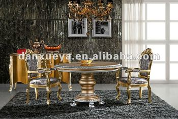 2013 Silver Gold Dining Table/Royal Luxury Round Table