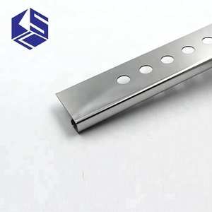 Top quality stainless steel tile trim with holes for sale