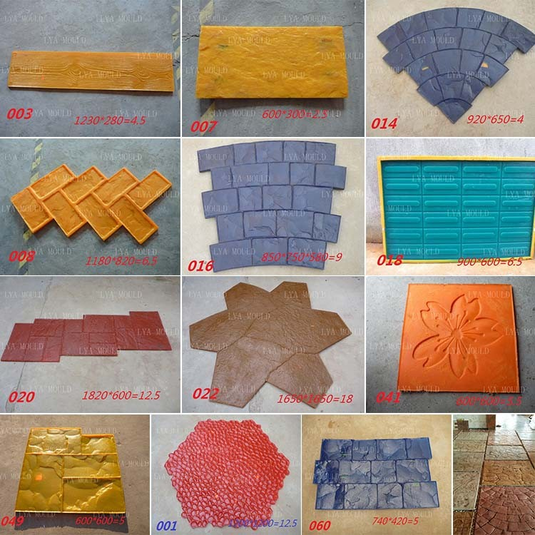 Polyurethane Rubber Stamp Concrete Cement Stamped Roller Buy