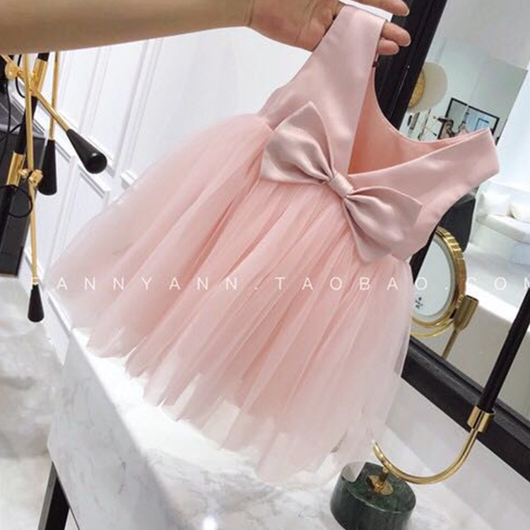 infant baby clothing 2-3years children tulle lace bowknot princess party dress baby girl One Full Year wedding full dress