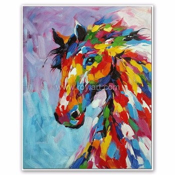 Home Decor Animal Pop Art Modern Colorful Horse Canvas Oil Painting Buy Horse Oil Painting Modern Animal Oil Painting Canvas Oil Painting Product On