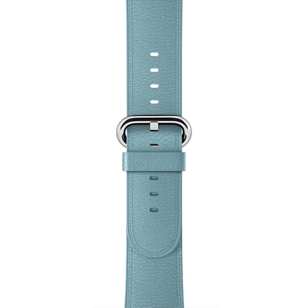 USHOT Genuine Leather Watch Band Wrist Straps for Apple Watch Series 4 40MM, Sky Blue