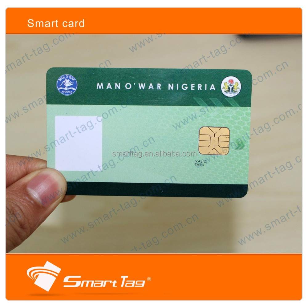 pvc inkjet SLE4428 contact ic smart card with emv chip card