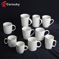 Wholesale white new bone china coffee mug with logo printing