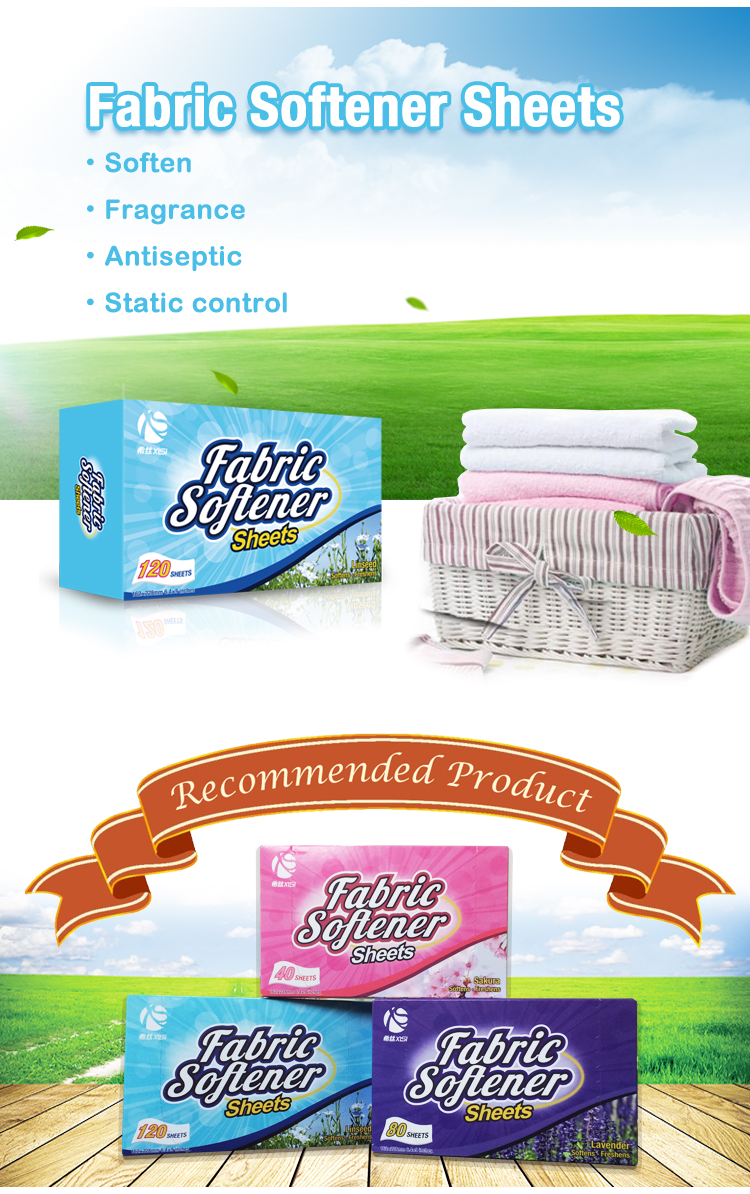Xisi eco product fabric softener sheets  making clothes smooth and comfortable with Guangzhou factory