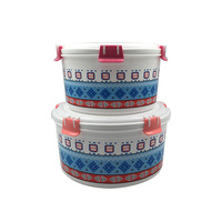 Round 2PCS collapsible food storage box container set