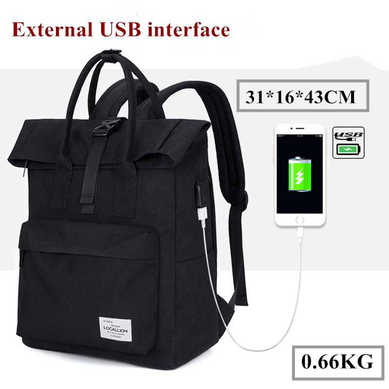 New Anti-theft Travel Backpack Business Laptop Book School Bag with USB Charging Port for College Student Work Men woman