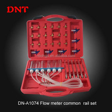 Professional 24pcs common rail injectors repair tools/flow meter common rail adapter set