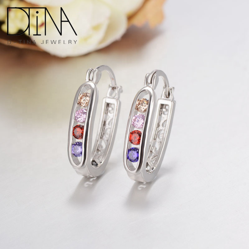 Dtina fashion jewelry earrings 18k gold plated earrings Women earrings, Platinum