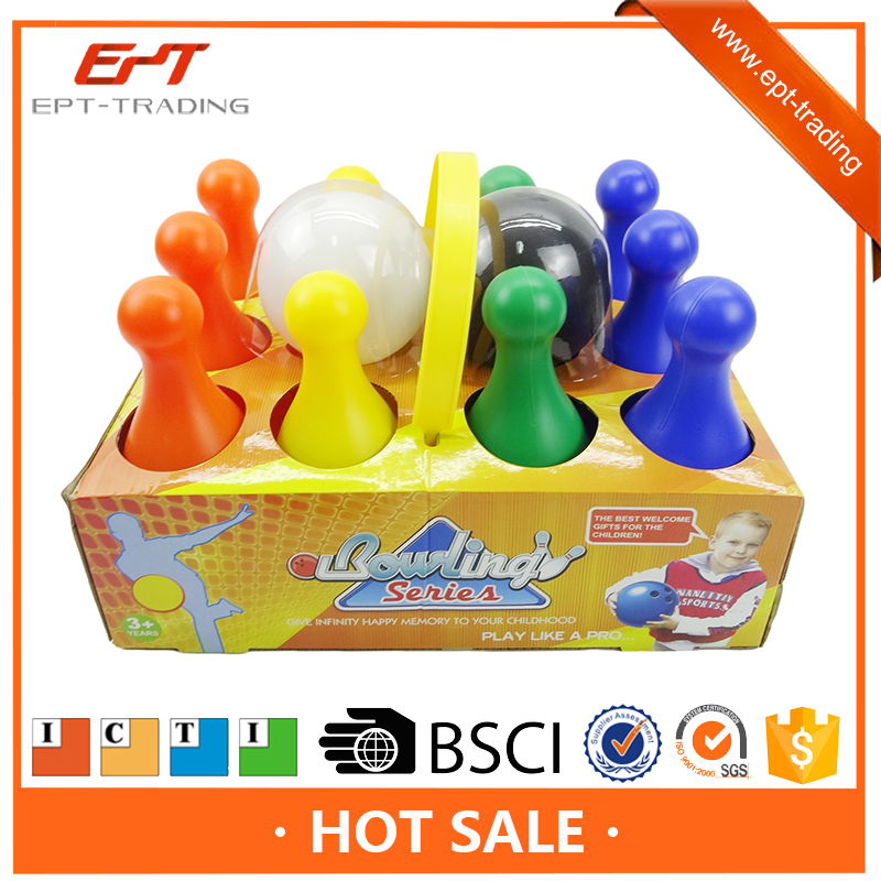 Hight quality 8 inch plastic cartoon bowling ball games set for sale