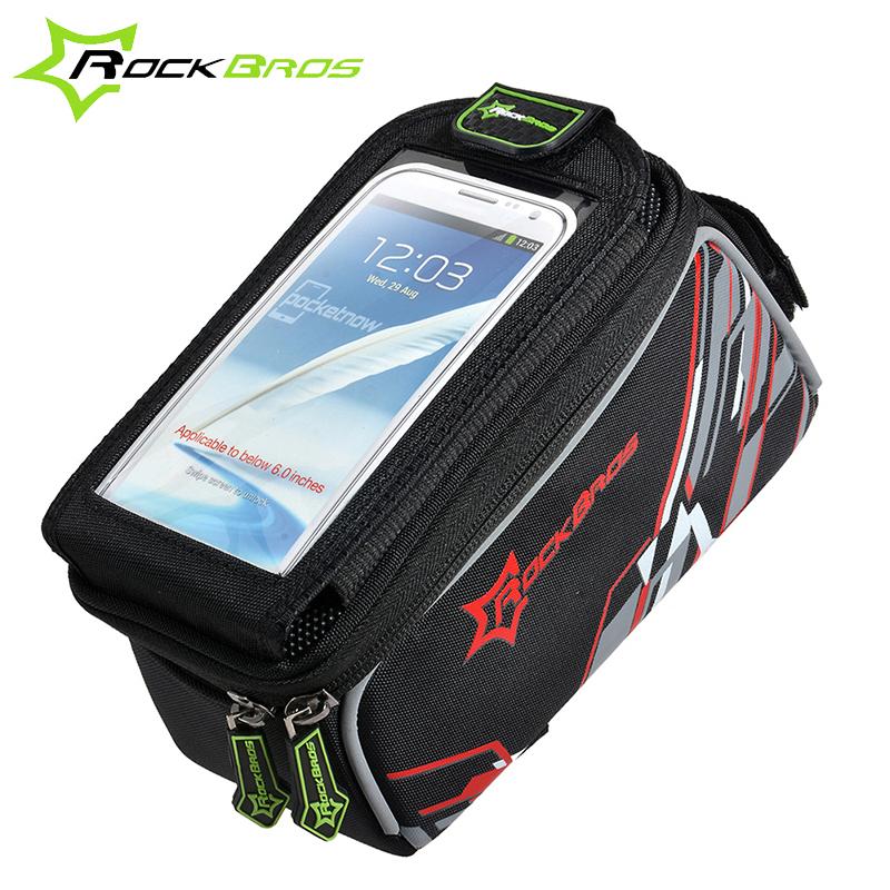 0a1a9ea19f Rockbros étanche vtt vélo vélos avant cadre supérieur sac de guidon vélo  Pouch écran tactile sacoches