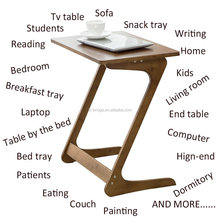 Bamboo Living Room Laptop Desk Removable End Table for Eating Writing Reading