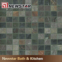 Newstar different size slate mosaic tile wall