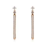 95251 xuping new arrival high quality magnetic 18k gold plated dangling earring for women