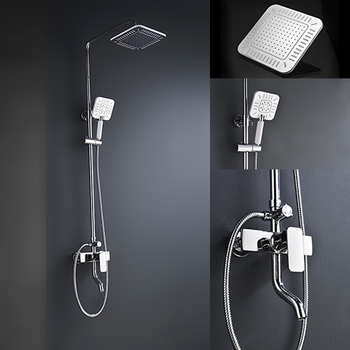 Brass Shower Faucet Body Valve Concealed Square Bath Shower Mixer ...