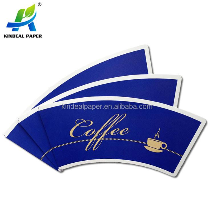 Materia prima para hacer de la taza de papel con recubrimiento de PE impreso de la taza de papel del ventilador