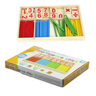 Montessori Wooden Number Math Game Sticks Box Educational Toy Puzzle Teaching Aids Set Materials