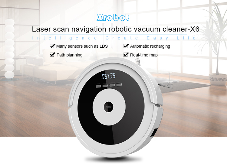 Home application floor cleaning intelligent 2600mah auto vacuum cleaner with automatic recharge