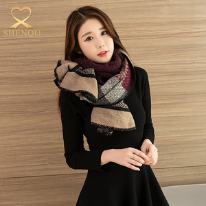 2017 winter thick warm scarf ladies stoles and shawls flower jacquard 100% viscose pashmina scarf