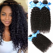 "8""-28"" Factory Direct Price Natural Black Virgin Brazilian Kinky Curly Human Hair Weaves"