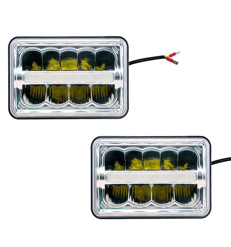 4x6 inch DRL LED Headlights 45W HID replacement H4656/4651 High/Low Beam With DRL Center Stripcar car accessaries