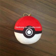 Anime Pokemon Go Plush Toys 8CM Cute ball keychain pokemon pokeball ball toys