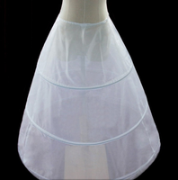 White Petticoats 3 Hoops Clear Bridal Petticoat for Beautiful Wedding Dress